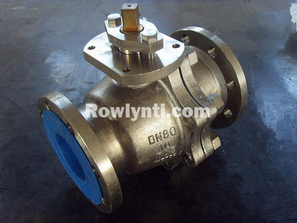 Q41F manual flange connection floating titanium ball valve