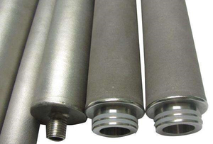 Titanium powder sintered filter element