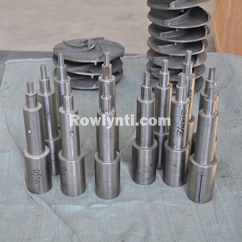 Titanium pump shaft